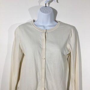 LOFT Sz Small Ivory Button Down Cardigan Sweater